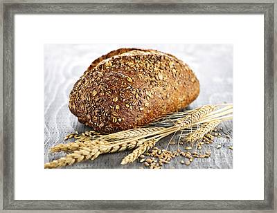 Loaf Of Multigrain Bread Framed Print
