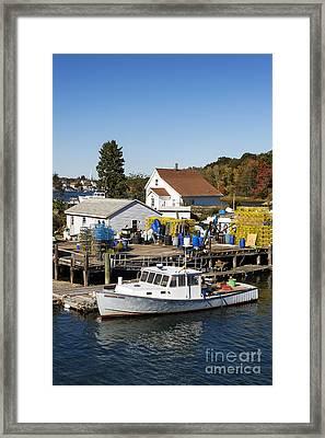 Lobster Boat Framed Print by John Greim