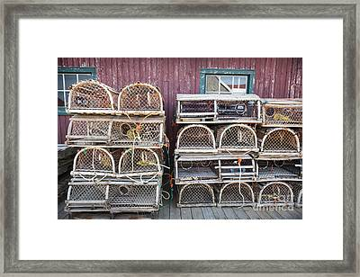 Lobster Traps Framed Print by Elena Elisseeva
