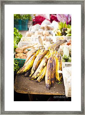 Local Asian Market Framed Print by Tuimages