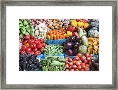 Located In The Town Of Chiclayo Framed Print