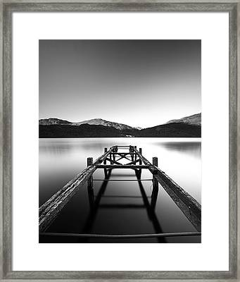 Loch Lomond Jetty Framed Print by Grant Glendinning