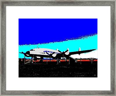 Lockheed Constellation Framed Print by Will Borden