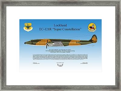 Lockheed Ec-121r Super Constellation Framed Print by Arthur Eggers