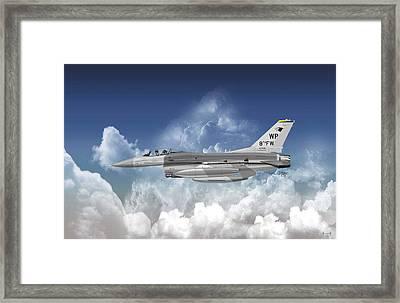 Lockheed Martin F-16c Fighting Falcon Framed Print by Arthur Eggers