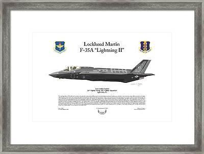 Lockheed Martin F-35a Lightning II Framed Print