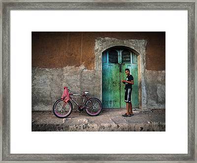 Locking Up Framed Print