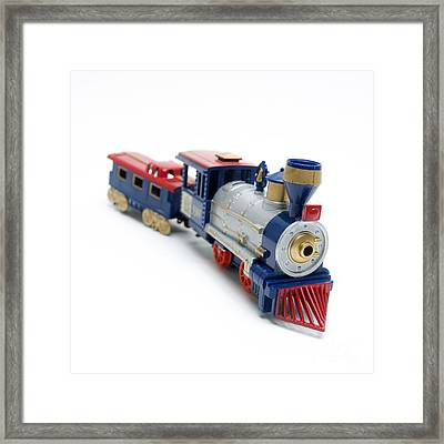 Locomotive Toy Framed Print