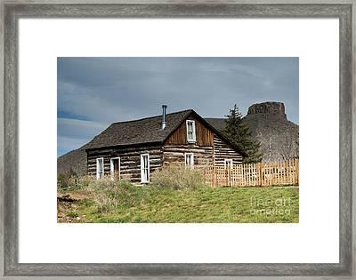 Log Cabin Framed Print by Juli Scalzi