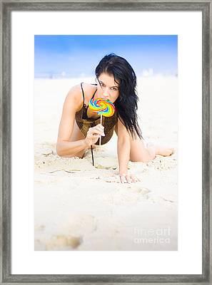 Lollipop Queen Framed Print