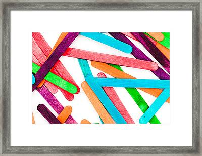 Lollipop Sticks Framed Print by Tom Gowanlock