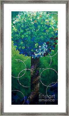 Lollipop Tree Green Framed Print