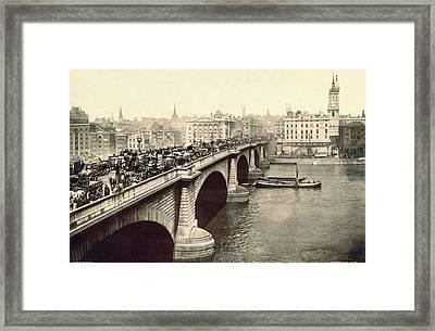 London Bridge Traffic Framed Print