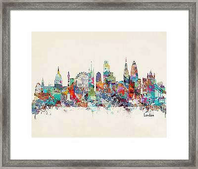 London City Skyline Framed Print