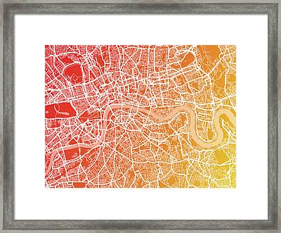 London England Street Map Framed Print