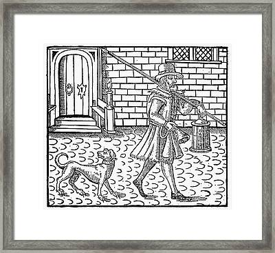 London Night-watchman Framed Print by Granger