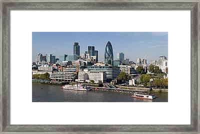 London Skyline Framed Print by Georgia Fowler