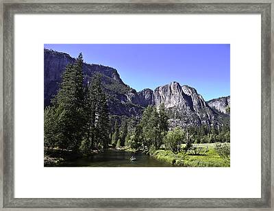 Framed Print featuring the photograph 1 Lone Rafter by Brian Williamson