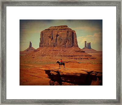 Lone Rider Framed Print by Terry Eve Tanner
