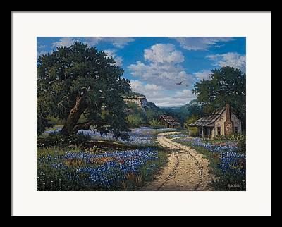 Gravel Road Paintings Framed Prints