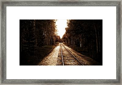 Lonely Railway Framed Print