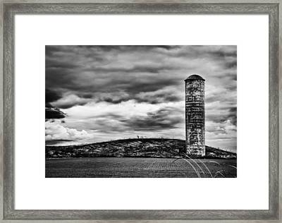 Lonely Silo Framed Print by Ricky L Jones