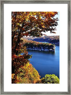 Long Point Summersville Lake Framed Print by Thomas R Fletcher