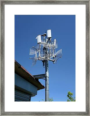 Long-range Wifi Antennae Framed Print by Cordelia Molloy
