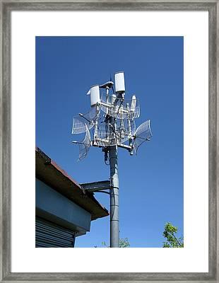 Long-range Wifi Antennae Framed Print