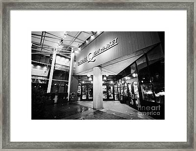 lonsdale quay market shopping mall north Vancouver BC Canada Framed Print by Joe Fox
