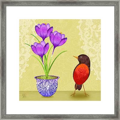 Spring's Surprise Framed Print by Valerie Drake Lesiak