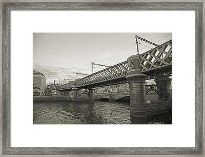Loopline Bridge Dublin Ireland Framed Print by Betsy Knapp