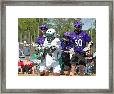 Loose Ball Framed Print by Barry Spears
