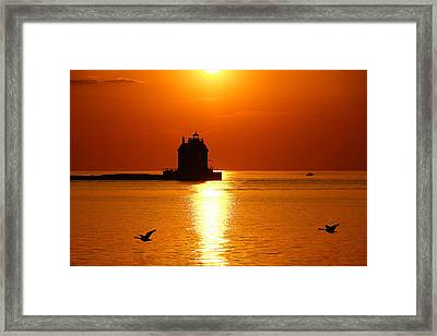 Lorain Harbor Framed Print by Robert Bodnar