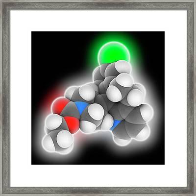 Loratadine Drug Molecule Framed Print by Laguna Design