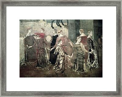 Lorenzetti, Ambrogio 1285-1348 Framed Print