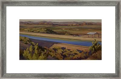 California Aqueduct Framed Print by Jane Thorpe