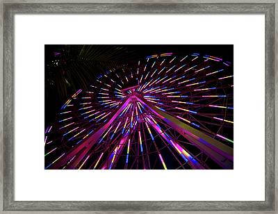 Los Angeles, Santa Monica, Colorful Framed Print