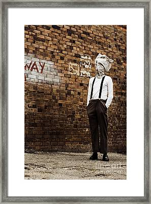 Lost In Back Alleys Of Yesterday Framed Print