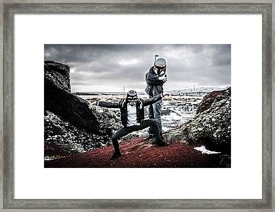 Lost In Space Framed Print by Marino Flovent