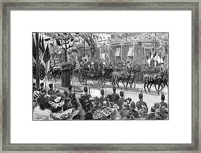 Loubet In London, 1903 Framed Print