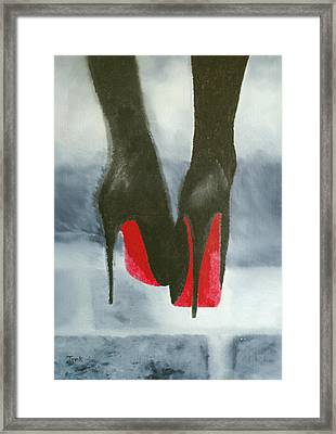 Louboutin At Midnight Framed Print