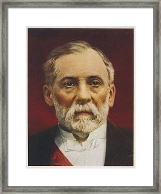 Louis Pasteur (1822 - 1895) French Framed Print by Mary Evans Picture Library
