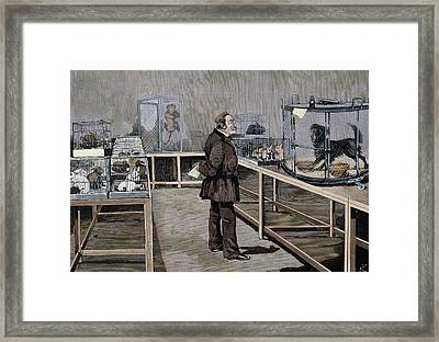 Louis Pasteur (1822-1895 Framed Print by Prisma Archivo