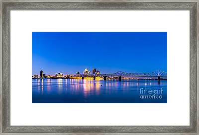 Louisville Kentucky Skyline Framed Print by Twenty Two North Photography