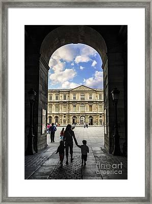 Louvre Framed Print by Elena Elisseeva