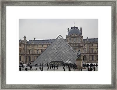 Louvre - Paris France - 011313 Framed Print
