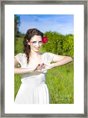 Love Heart Sign Framed Print by Jorgo Photography - Wall Art Gallery