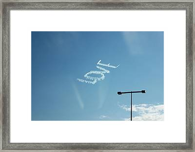 Love In The Air  Framed Print by Lorna Maza