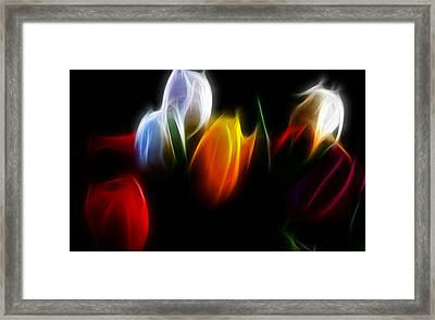 Framed Print featuring the digital art Love by Karen Showell